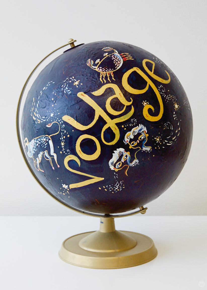 Make A DIY Honeymoon Fund Painted Globe
