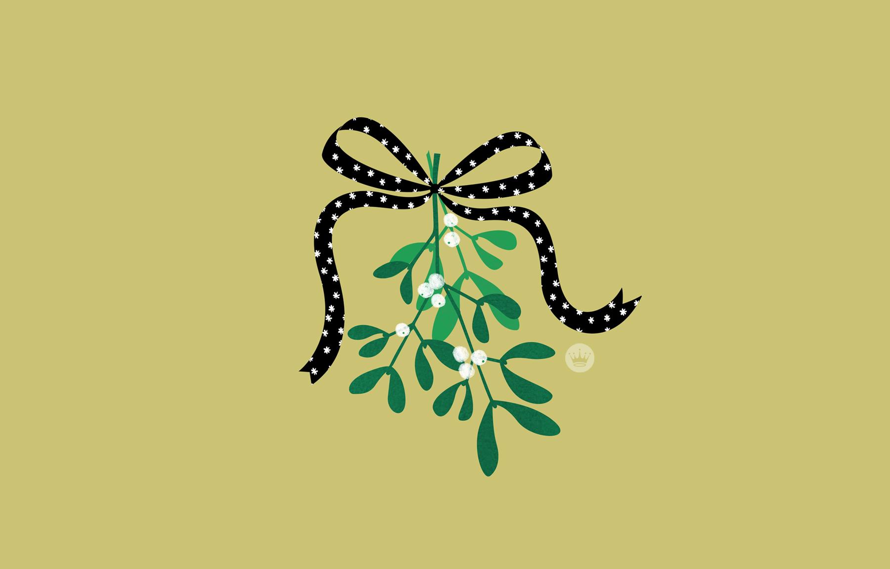 Wallpaper download blog - Download Mistletoe By Hallmark Artist Samantha L Desktop Wallpaper