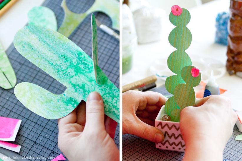 Paper cacti DIY from Hallmark designer Allyson Lassiter | thinkmakeshareblog.com