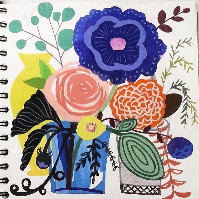A sketchbook illo by hallmark artist davidpjecha to start yourhellip