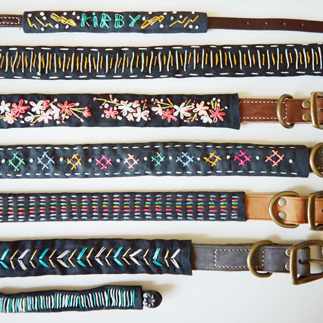 Dont miss this cute pet collar embroidery workshop ontheblog today!hellip