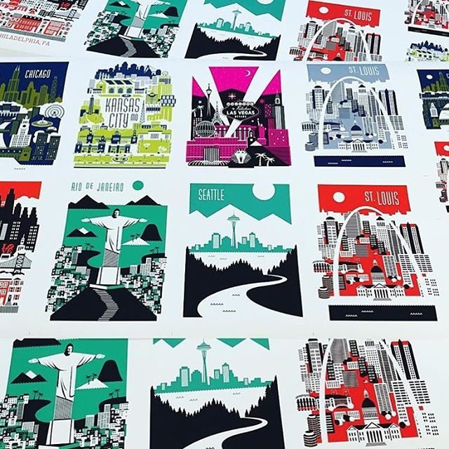 Love these city prints by mmerkledesign! Hes added a fewhellip