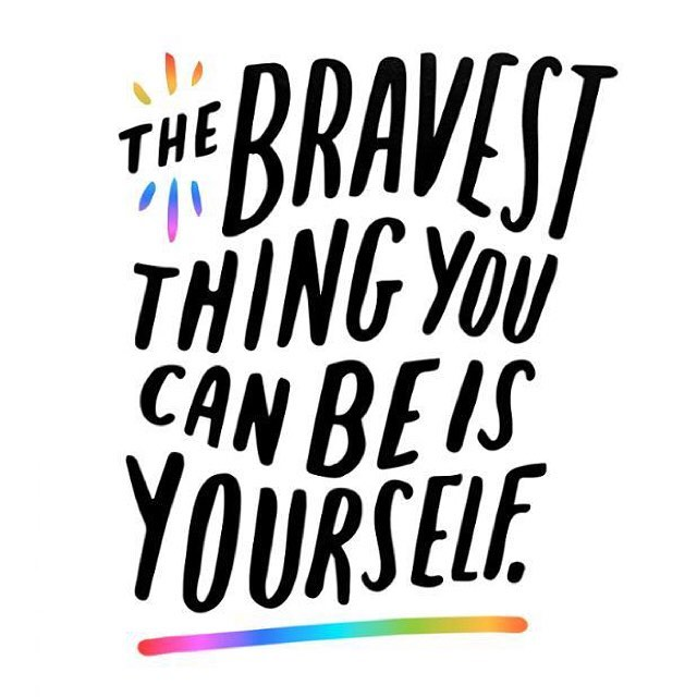 Living bravely means the world gets to experience all thehellip