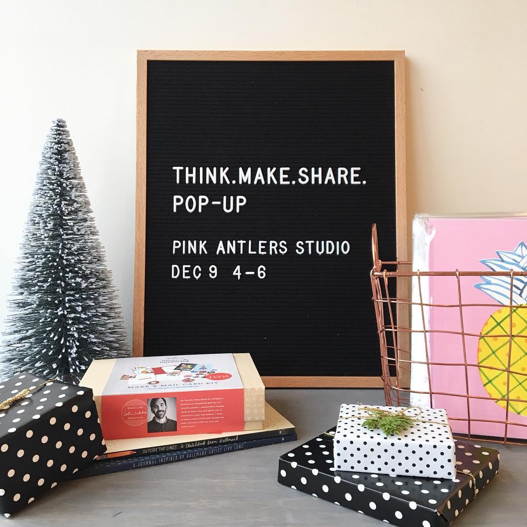 Local friends join us for our HOLIDAY POPUP at pinkantlersstudiohellip