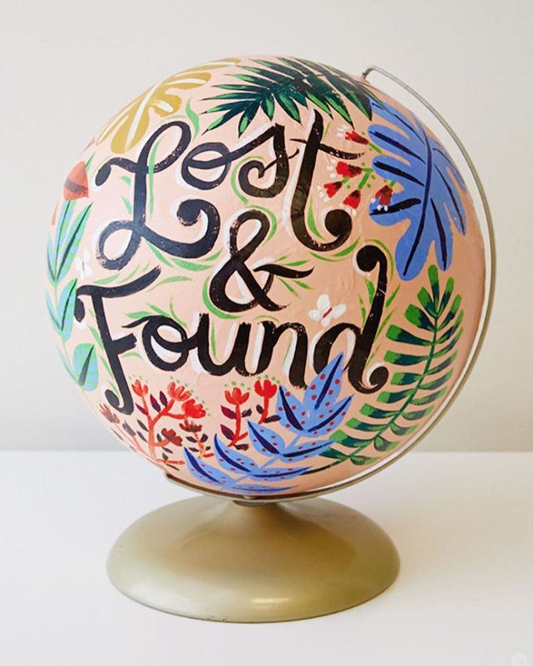 We hosted a globe painting workshop and the results werehellip