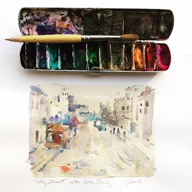 Watercolor AND travel paint palette inspiration via hallmark artist craiglueckhellip