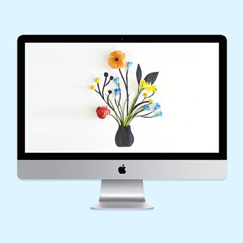 Our April wallpapers are blooming early Put a little springhellip