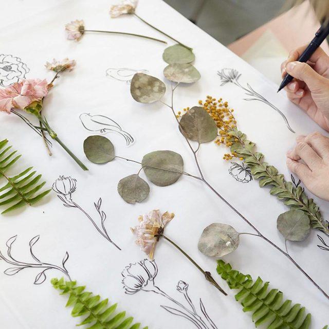 We experimented with pressed flowers in the studio last weekhellip