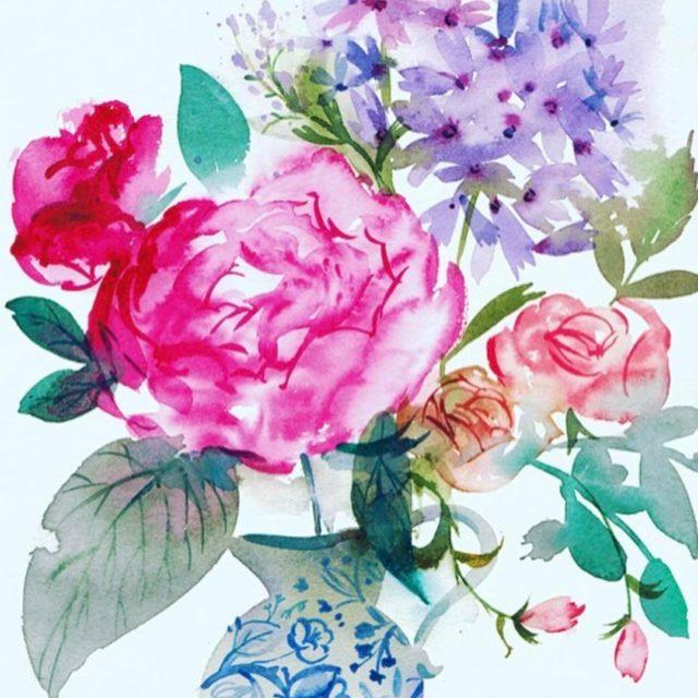 These spring florals by hallmark artist kensheldon9 TDF TMSpaints painthellip