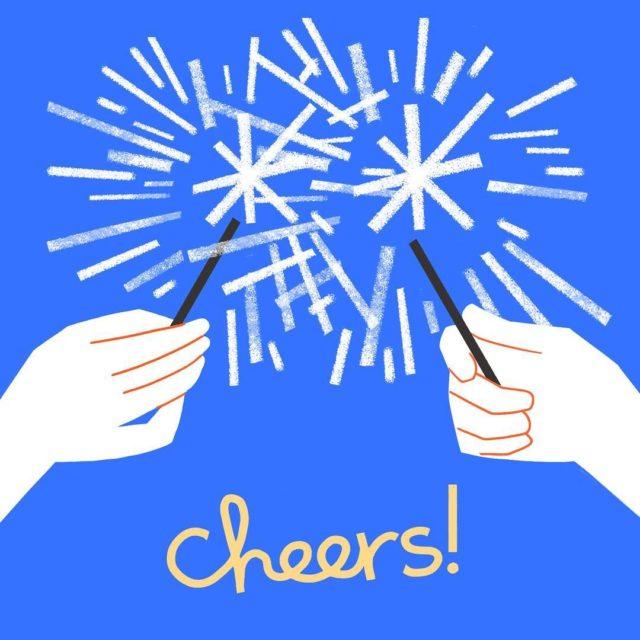 Getting our sparklers ready! cheers  Artwork by hallmark internhellip