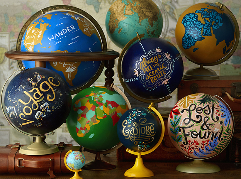 DIY Globe Painting | thinkmakeshareblog.com