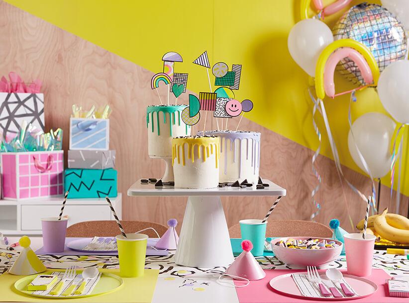 Crayola Retro Party | thinkmakeshareblog.com