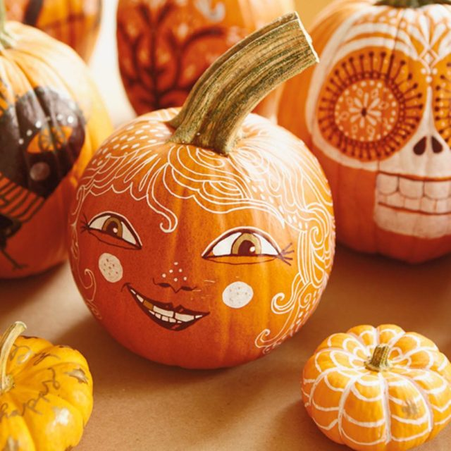 We are all smiles over these pumpkin painting ideas fromhellip