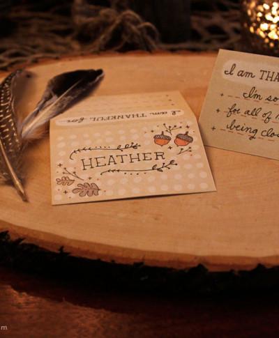 Friendsgiving Place Card | thinkmakeshareblog.com