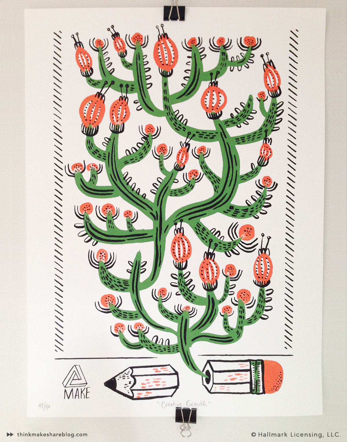 5 Points Cactus Print by Allie Rotenberg | thinkmakeshareblog.com