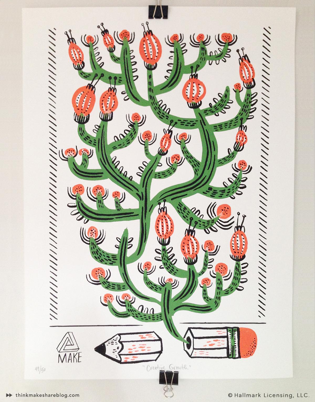 5 Points Cactus Print by Allie Rotenberg   thinkmakeshareblog.com