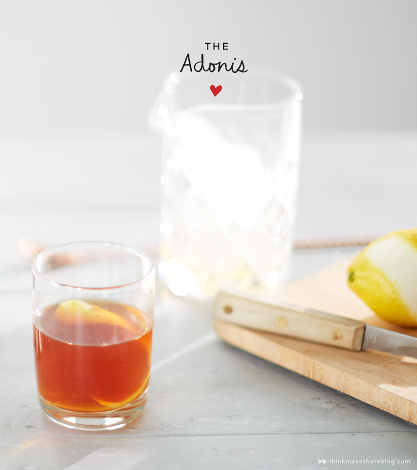 adonis valentines day cocktail _ thinkmakeshareblog