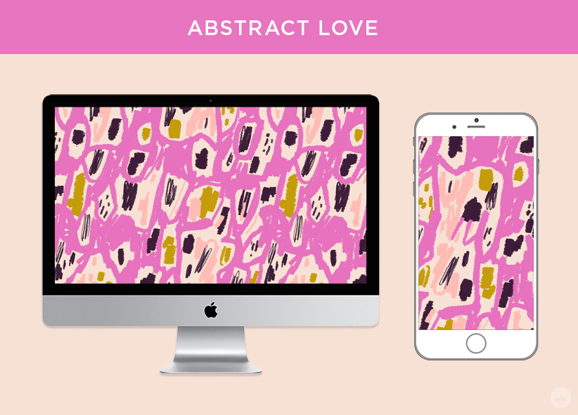 Abstract Love: free February 2018 digital wallpapers