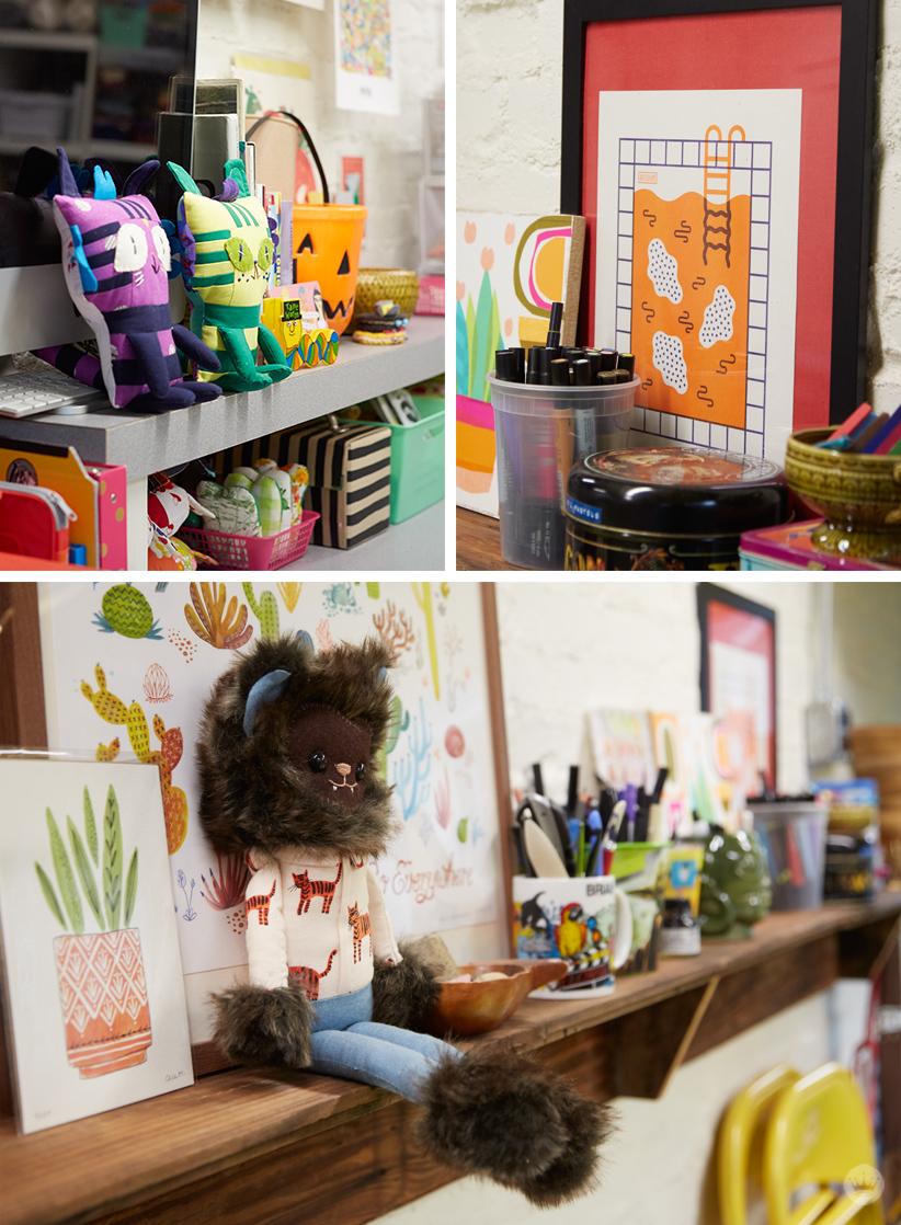 Allyson L. Studio Tour | thinkmakeshareblog.com