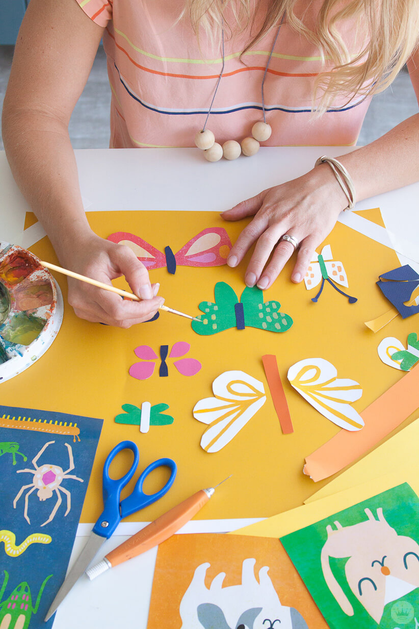 Hallmark Artist Amber G. creates cut-paper illustrations for the Hallmark Baby Cute Critter collection