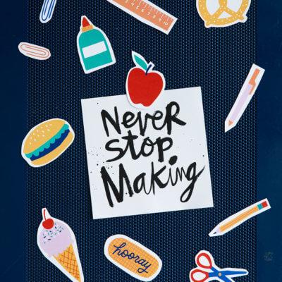 Back to school magnets on locker | thinkmakeshareblog.com