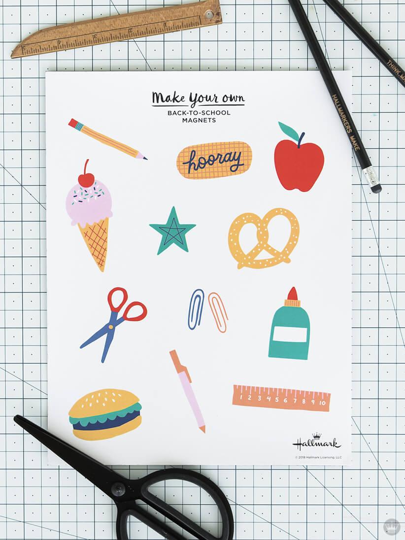 Back-to-School magnets supplies | thinkmakeshareblog.com