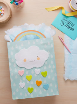 Easy and so very sweet: Three dreamy baby gift wrap ideas