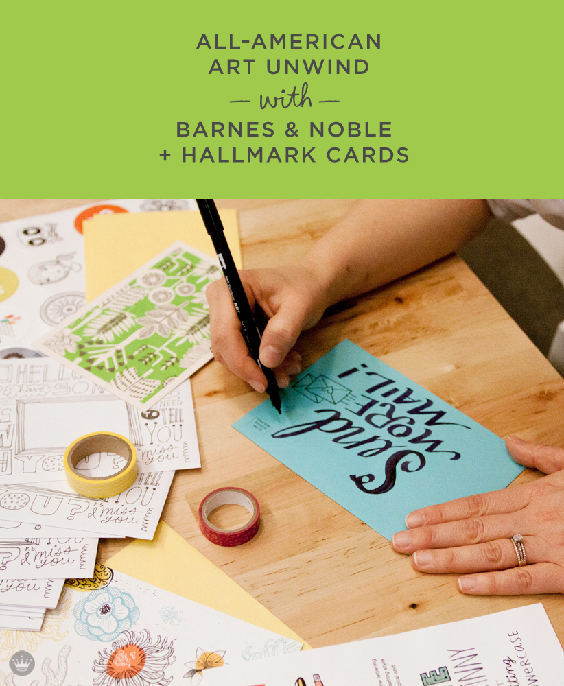 barnes and noble all american art unwind event with hallmark cards thinkmakeshareblogcom