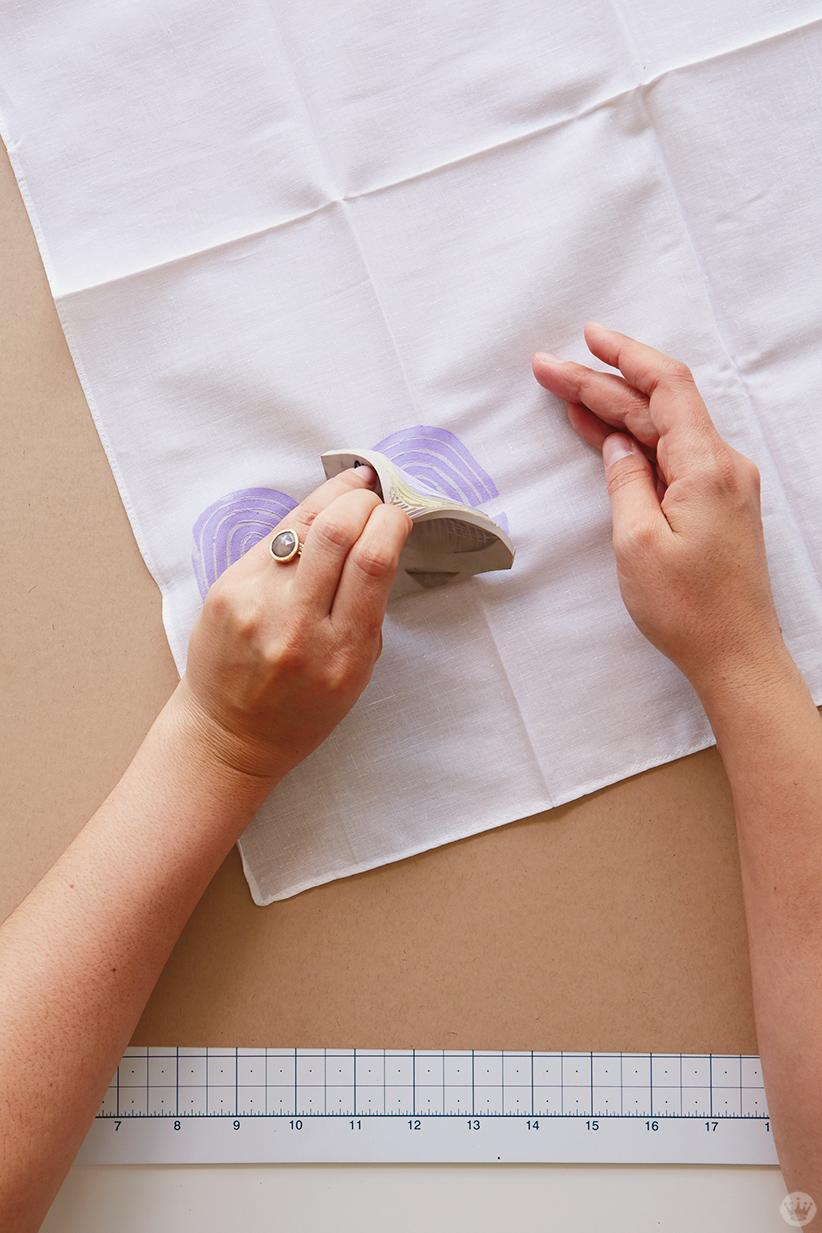 Block print gifts: Stamping a bandana