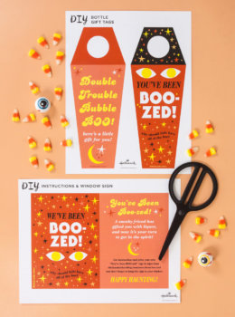 You've been boo-zed: Adult Halloween printables