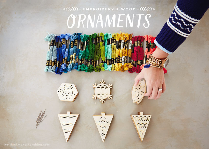 Make your own embroidery and wood ornaments think make How to make your own ornament
