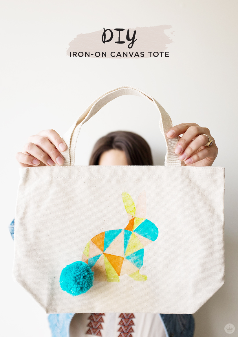 Kid Friendly Diy Easter Canvas Tote