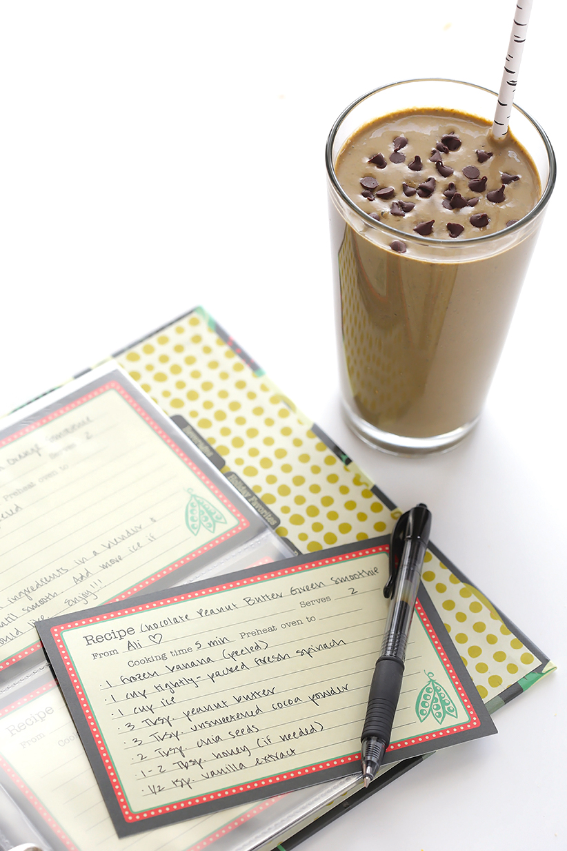 Chocolate Peanut Butter Green Smoothie 8