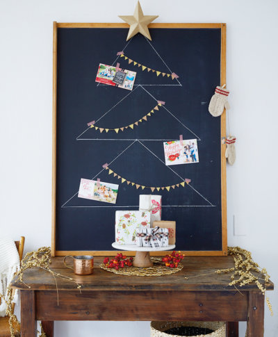 Christmas Card Display | thinkmakeshareblog.com