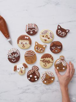 DIY cookie faces: How to make your own sweet family and friends