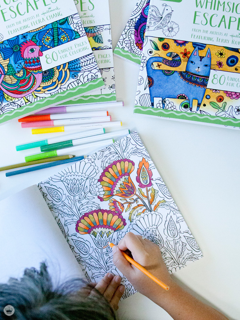 four new coloring books from hallmark and crayola think make share