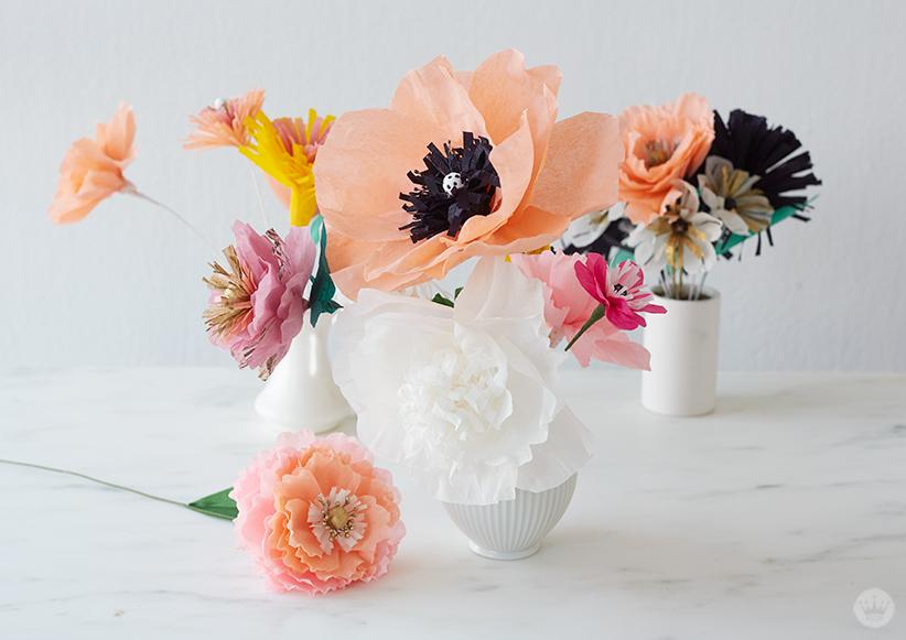 Crepe paper flowers diy pretty peonies thinkkeare displaying your crepe paper flowers mightylinksfo