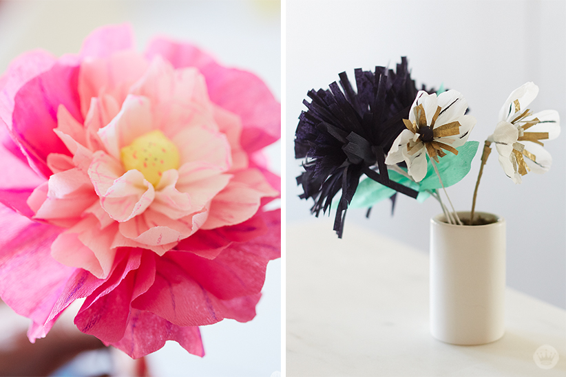 Crepe paper flowers diy pretty peonies thinkkeare crepe paper flowers are a kind of beautiful all their own when you base their colors on real blooms they seem almost lifelike mightylinksfo