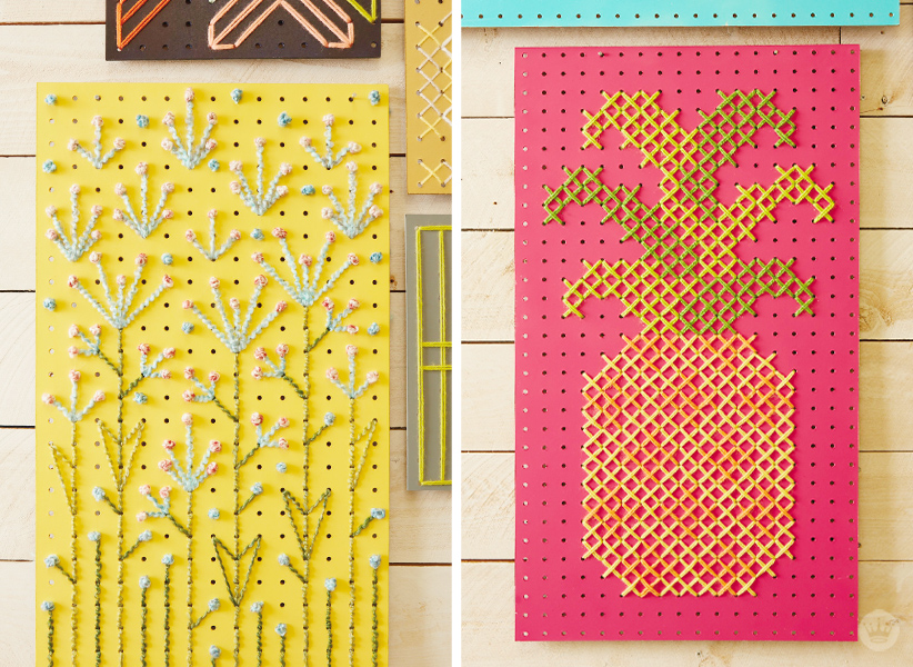 Cross Stitch Pegboards | thinkmakeshareblog.com