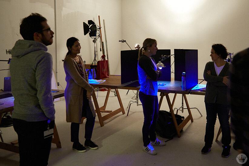 Cyanotype workshop at Hallmark photo studio
