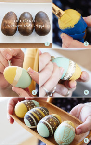 DECORATE-wooden Easter eggs with Hallmark artists