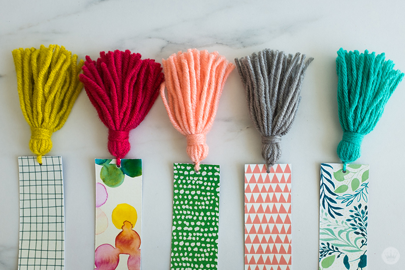 Diy Bookmarks Part - 49: Five Completed DIY Tassel Bookmarks