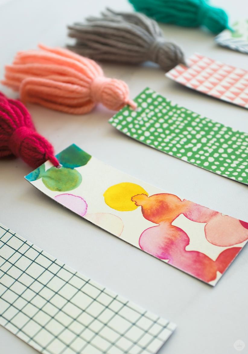 DIY Tassel Bookmarks: five designs