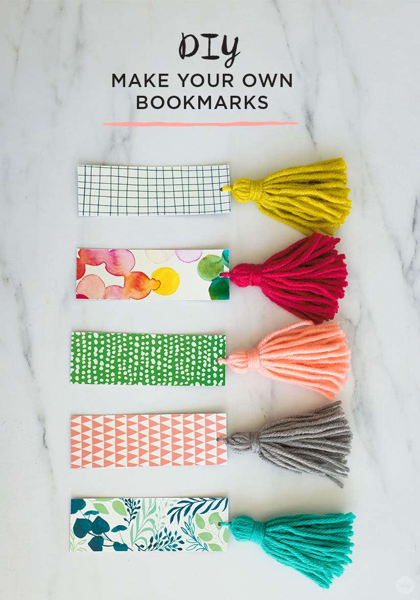 DIY Tassel Bookmarks: free printable download