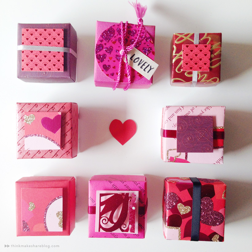 Make Valentines Day treat boxes out of recycled greeting cards – How to Make Valentines Cards