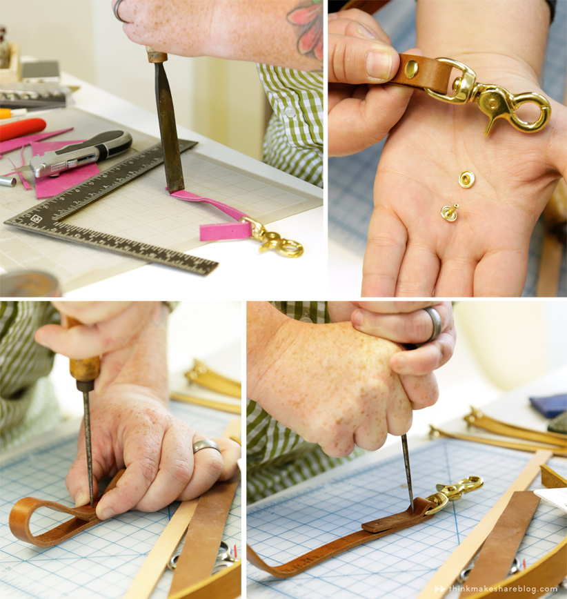 DIY Leather Keychain | thinkmakeshareblog.com