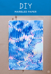 DIY marbled paper techniques | thinkmakeshareblog.com