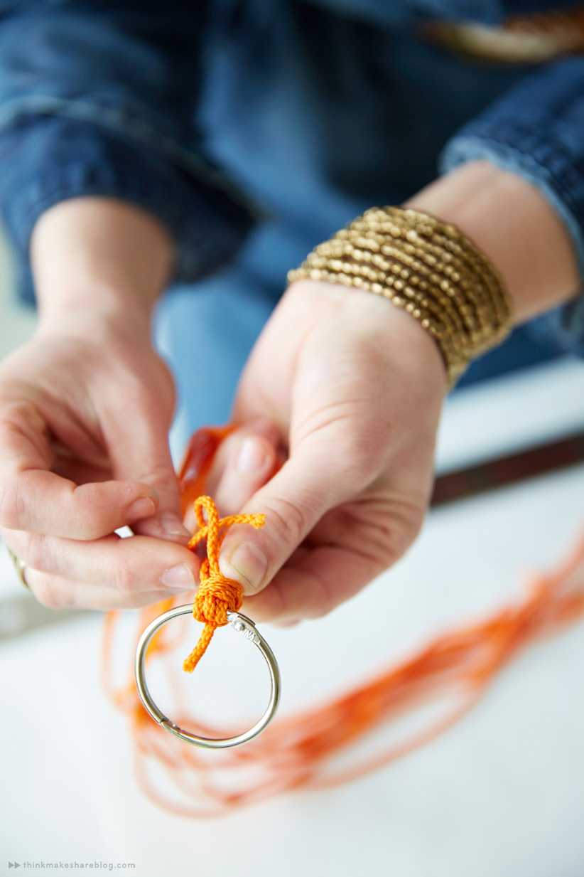 DIY Mini Macrame Hanger   thinkmakeshareblog.com