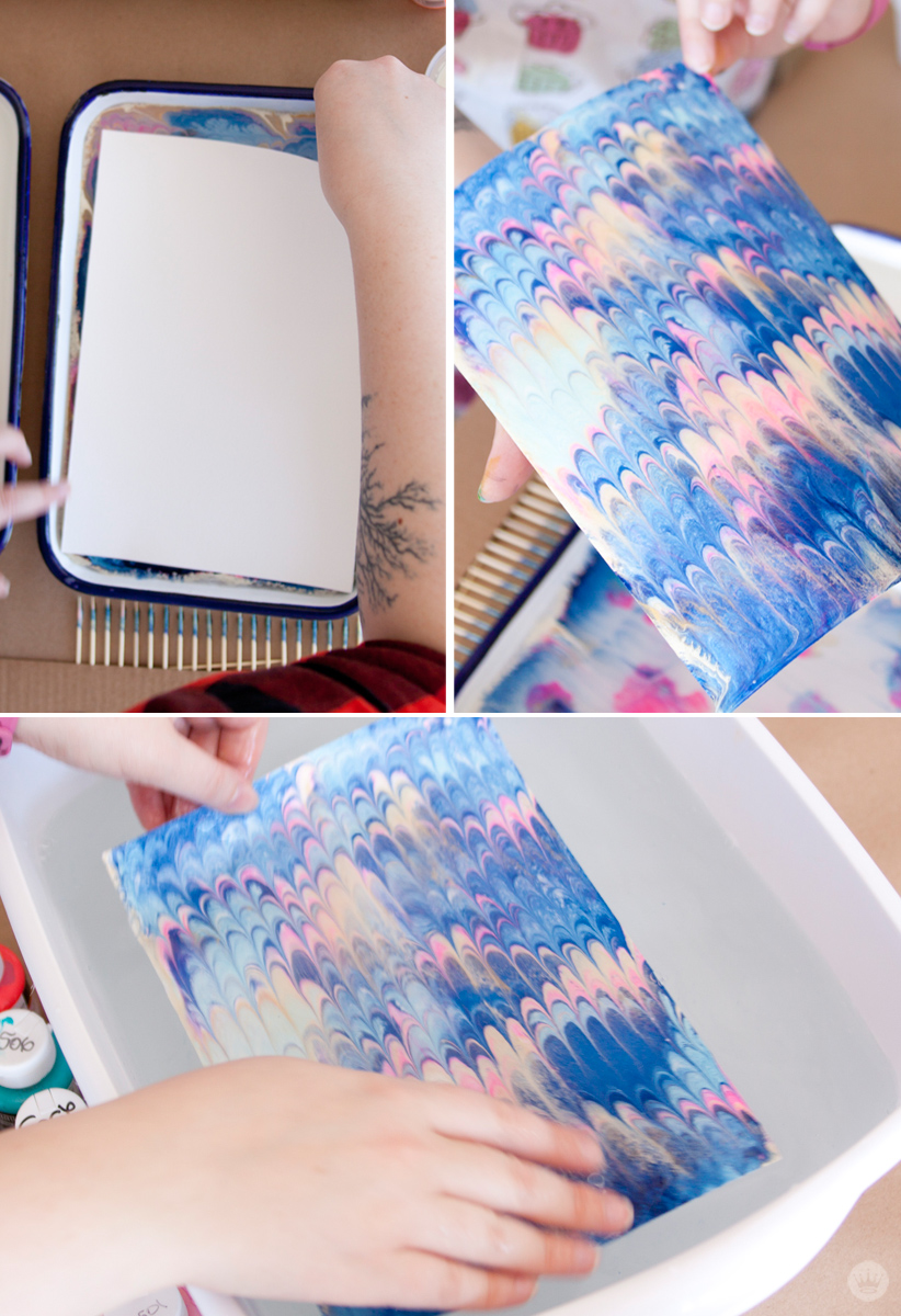 DIY marbled paper techniques | 4 | thinkmakeshareblog.com