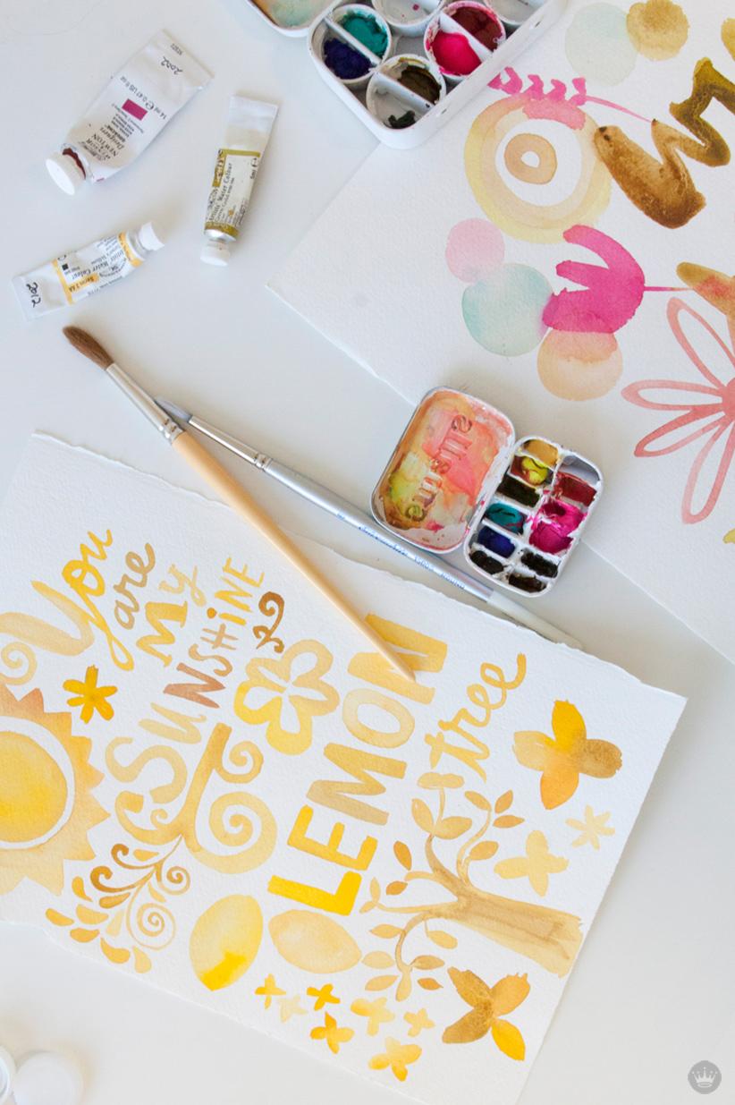 DIY mini watercolor paint palette   thinkmakeshareblog.com